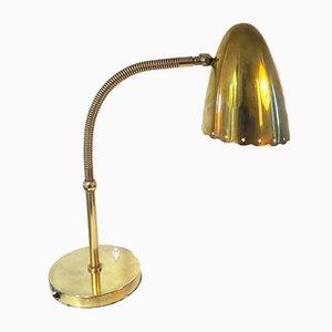 Lampada da tavolo in ottone massiccio, Danimarca, anni '40