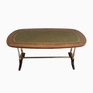 Tavolino da caffè neoclassico di pelle