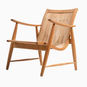 Verstellbarer Armlehnstuhl von Jacob Müller für Werkgenossenschaft Wohnhilfe, 1950