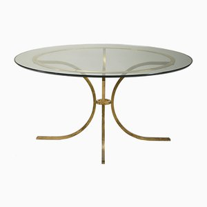 Large Glass Dining Table by Robert Thibier