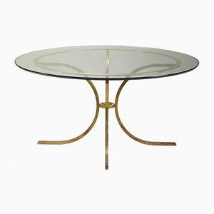 Mesa de comedor grande de vidrio de Robert Thibier