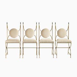 Chaises par Robert Thibier, 1960s, Set de 4