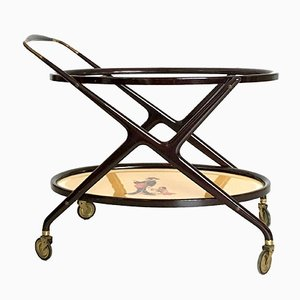 Italian Beech Serving Cart, 1950s
