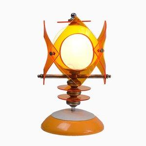 Space Age Opalglas & Plexiglas Tischlampe, 1970er