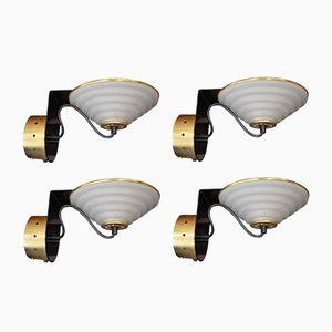 Italian Wall Lamps from Stilnovo, Set of 4