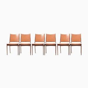 Chaises de Salon en Palissandre par Johannes Andersen pour Uldum Møbelfabrik, 1960s, Set de 6