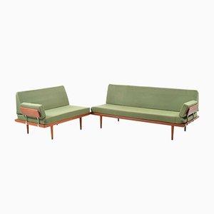 Set di sofà Minerva di Peter Hvidt & Orla Mølgaard Nielsen per France & Søn, anni '60