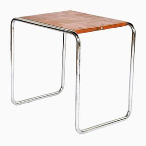 Vintage B9 Orange Tubular Nesting Table by Marcel Breuer for Thonet
