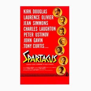 Póster de la película 'Spartacus Road Show' estadounidense vintage de Saul Bass & Reynold Brown, 1960