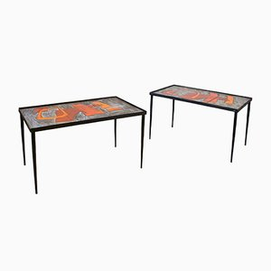 Ceramic Coffee Tables by Robert and Jean Cloutier, 1960s, Set of 2