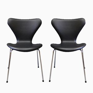 Model 3107 Chairs by Arne Jacobsen for Fritz Hansen, 1967, Set of 2