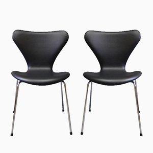 Sedie modello 3107 di Arne Jacobsen per Fritz Hansen, 1967, set di 2
