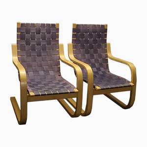 Chaises Modèle 406 par Alvar Aalto pour Artek, 1980
