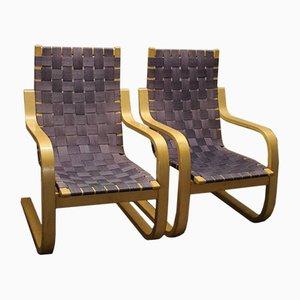 Modell 406 Stühle von Alvar Aalto für Artek, 1980