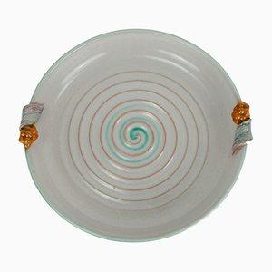 Cuenco de cerámica de Martha Katzer para Karlsruher Majolika, años 30