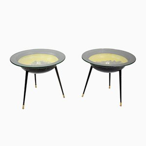 French Space Age Tables with Integrated Lighting, 1950s, Set of 2
