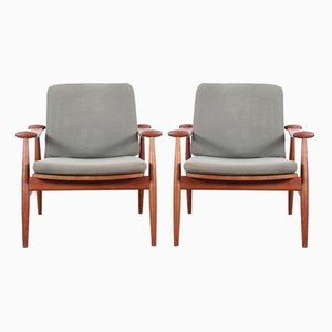 Mid-Century FD 133 Teak Armchairs by Finn Juhl for France & Søn, 1958, Set of 2
