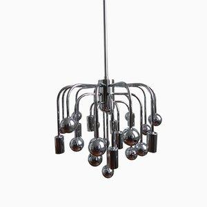 Lámpara Sputnik vintage con 9 luces