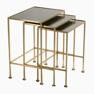 Tables Gigogne en Laiton, 1960s