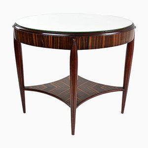 French Art Deco Zebrawood Veneered Console Table, 1930s