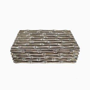 Caja vintage pequeña con forma de bambú