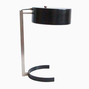 Lampe de Table Noire par JJM Hoogervorst pour Anvia, 1950s