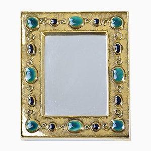 Miroir Mid-Century Jewels par François Lembo