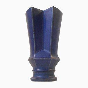 Geometrische Dänische Steingut Vase von Lisa Engqvist für Bing & Grøndahl, 1960er