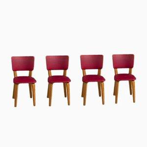 Multiplex Schichtholz Esszimmerstühle von Cor Alons für De Boer, 1949, 4er Set