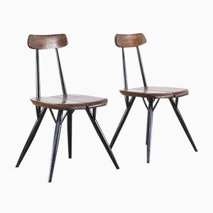 Pirkka Dining Chairs by Ilmari Tapiovaara for Laukaan Puu, 1960s, Set of 2