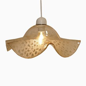 Mid-Century Smoked Murano Glass Pendant Hanging Light from Venini, 1960s