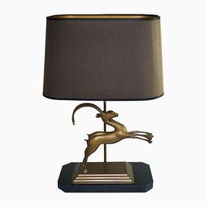 Lampada Mid-Century moderna con gazzelle in ottone