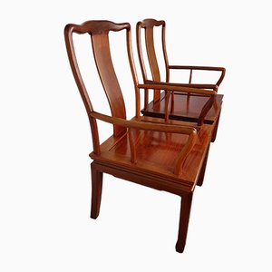Vintage Chinese Rosewood Desk Chairs, Set of 2