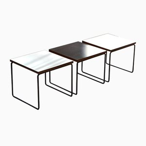 Tables Volante par Pierre Guariche pour Steiner, 1960s, Set de 3