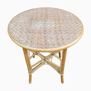 Vintage Wicker Table, 1960s