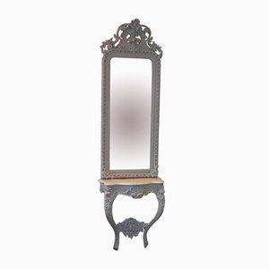 Specchio rococò con consolle