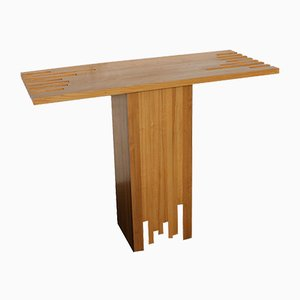 Italian Modernist Wood Console Table