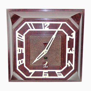 Square Bakelite Wall Clock from JAZ, 1935