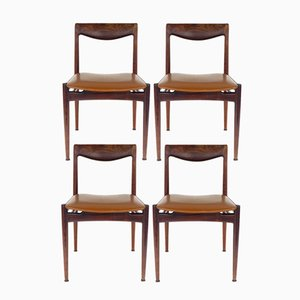 Mid-Century Palisander Stühle, 4er Set