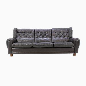 Tschechisches Sofa aus Braunem Leder, 1970er