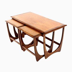 Tavolini a incastro Mid-Century in teak e mogano di G-Plan, anni '60