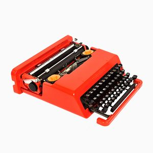 Valentine Travel Typewriter by Ettore Sottsass & Perry A. King for Olivetti Synthesis, 1970s