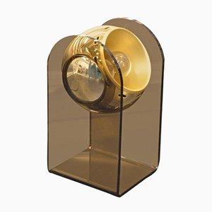 Golden Chrome Table Lamp by Gino Sarfatti, 1960s