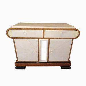 Italienisches Art Deco Sideboard aus Birke & Pergament, 1930