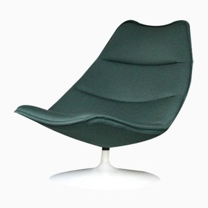 Mint Green F584 Lounge Chair by Geoffrey D. Harcourt for Artifort