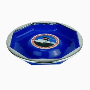 Porcelan & Enamel Schlesische Dampfer Compagnie Ashtray from C. Robert Dold