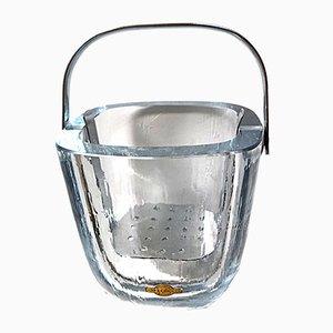 Glass Ice Bucket from Strömbergshyttan, 1950s