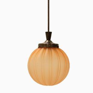 Lámpara de techo sueca Art Déco de Orrefors, años 30