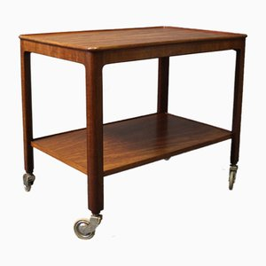 Danish Mahogany Serving Trolley, 1960s