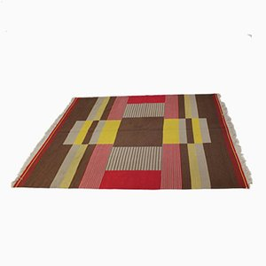 Large Modernist Geometric Rug by Antonin Kybal, 1950s